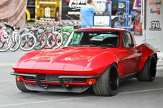 Pro Touring 66' Widebody Corvette Stingray. Love the modern spin on a retro car