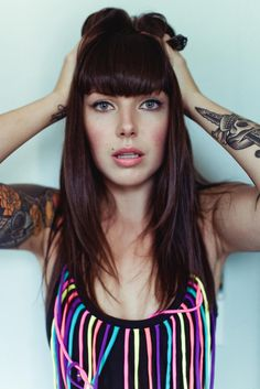 Alexis Krauss, lead singer of the Brooklyn musical duo Sleigh Bells. Major, major style inspiration: she has retro-badass-chic down to a science.