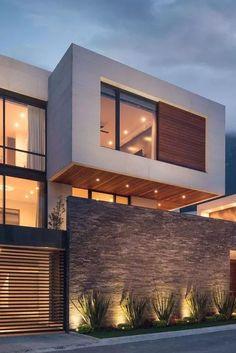 Modern Exterior House Designs, Modern House Facades, Dream House Exterior, Exterior Design, Best Modern House Design, Modern Design, Modern Minimalist House, Minimalistic Kitchen, House Front Design