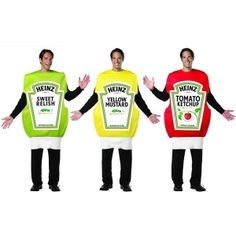 Heinz - KetchupMustardRelish Adult Group Costume Set - One Size  sc 1 st  Pinterest & Coolest Ketchup and Mustard Costume | Pinterest | Homemade ketchup ...