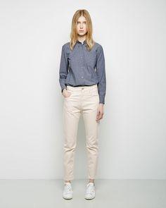 ISABEL MARANT   Fabrice Single Pocket Chambray Shirt   Shop @ La Garçonne