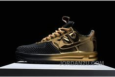6877fdaecd9b Buy Nike Air Force Nike Lunar Force 1 Duckboots Fashion Sneakers Gold Black  For Sale