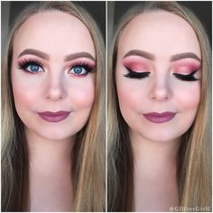 huda beauty rose gold palette makeup look