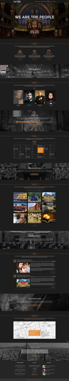 Church is the premium #PSD #template for churches and events