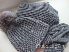 Мобильный LiveInternet Комплект спицами - шапка и шарф | Клубок | Лариса-муля - Дневник Лариса-муля |