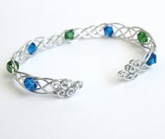 Celtic Braid Bracelet Choice of Swarovski by FantasiaElegance