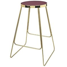 home-lust.com Broste Copenhagen brass-finished iron stools with a burgundy-red or dark aubergine ceramic seat. Sold in sets of four; price is for set.  Size: 46 X 69 CM Delivery estimate: within 2 weeks of purchase.  Delivery charge: E30