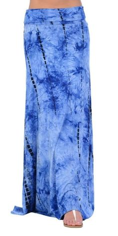 Tie dye maxi skirt .... fold over waist .. very by Foreverpeace