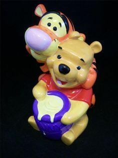 Vintage Genuine Disney Winnie the Pooh & Tigger Cookie Jar EUC / $56