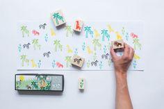 "Yellow Owl Workshop ""Jungle Stamp Set""   Art Star"