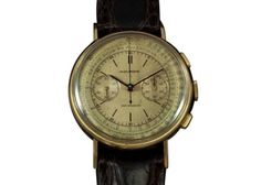 Vintage 1950 Movado Men's Full Size Chronograph- 14K Gold - Doctor's Watch