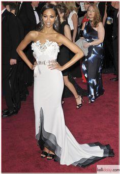 Zoe Saldana Oscar gown