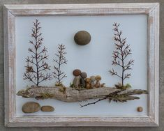This Pebble Art Rock Pebble Art Family Rock Art Family family is just one of the custom, handmade pieces you'll find in our other assemblage shops. Pebble-art-family made with stone, driftwood and tree branch sprigs. Pebble Art Family Outside on a Log wat Painted Rocks, Hand Painted, Painted Wood, Pebble Art Family, Art Pierre, Pebble Pictures, Art Pictures, Art Diy, Driftwood Crafts
