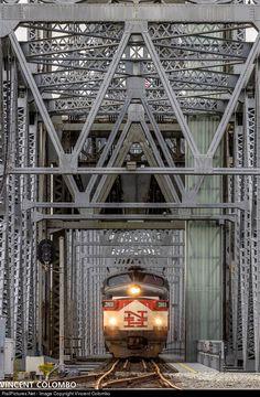 Net Photo: MC 2011 Mass Coastal Railroad EMD at Bourne, Massachusetts by Vincent Colombo Railroad Bridge, Railroad Tracks, Paper Train, Grand Funk Railroad, Train Posters, Railroad Photography, Train Pictures, Train Tickets, Diesel Locomotive