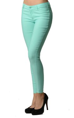 96a438e800867 Green Color Tight Jeggings