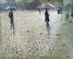 Gustave Caillebotte, Study for Paris Street, Rainy Day