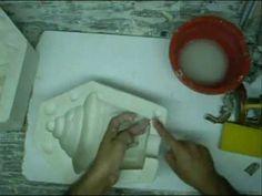Moldes con yeso -Como hacer el molde en yeso de un farol