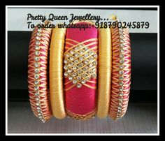 Designer handmade silk thread jewellery.. Colours and sizes can be customized.. Orders undertakenn.. To order whatsapp; +918790245879 For more designs visit my page..  https://m.facebook.com/whatagirlwants66/  Happy shopping with us..   #silkthread #pretty queen jewellery #jewellery #handmade #bangles #ethnic #beadedjewellery #paper #pearl #jhumka #madeinIndia #jewelry #bailedjewellery #chandbali #pearljewelery #silkthreadbangles #gherubeads #gerubeads #maangtikka #hairclips