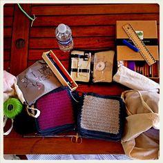 Vorbereitung für eine Patchworkdecke 2012