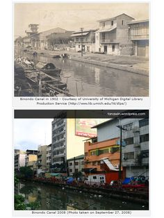 Binondo Canal in 1902 and in 2008.