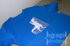 T-shirt with heat transfer and the Silhouette cutter.