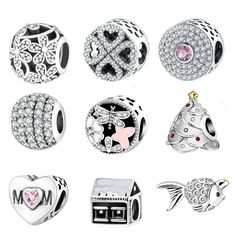 925 Zilver Charm Bead Fit Originele Pandora Bedels Armbanden Met Clear Zirconia DIY 2016 Winter Stijl Authentieke Berloque