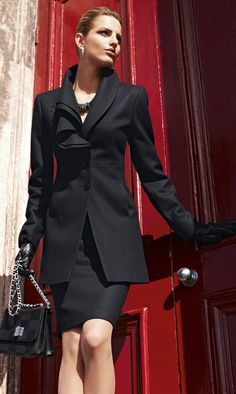 <3 classy black suit and pencil skirt. Perfect for closing the deal. All professionals who appreciate skirted dressing, man, woman, or trans*, would agree.