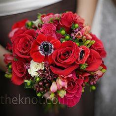 Red Bridesmaid Bouquet