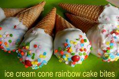 ice cream cone cake bites by sugarswings, via Flickr
