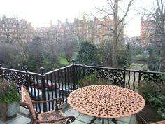 Balcony with view over Cadogan Square