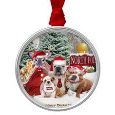 Bulldog Weather Is Frightful Christmas Tree Ornaments