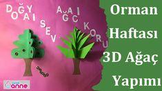Orman Haftası Etkinliği – 3d Ağaç Yapımı Orman Haftası için sizlerden gelen istek üzerine ağaç ve orman temalı etkinlik yaptık. Etkinliğimizde 3D ağaç yapımını sizler ile paylaştık. ❤Malzemeler; farklı renklerde fon kartonu, yapıştırıcı, makas. ❤Yapılışı:A4 şeklinde olan kağıdımızı büyük 2 parça haline gelecek şekilde katlıyoruz. Sonra 2 büyük parçayı aynı şekilde katlayarak 4 küçük kağıt …