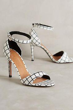Vicenza Gridwork Heels Black & White 41 Euro Heels