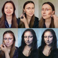 "Stunning Mona Lisa Makeup Tutorial That'll Make You Go ""HOW?"" – Video Atemberaubendes Mona Lisa Make-up-Tutorial, das dich dazu bringt, ""WIE? Halloween Kostüm, Halloween Cosplay, Cosplay Costumes, Halloween Costumes, Fairy Costumes, Natural Hair Mask, Natural Hair Styles, Fx Makeup, Makeup Tips"