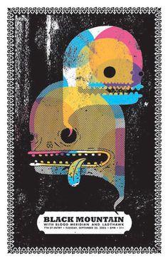 Black Mountain gig poster.