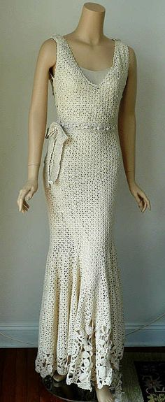 Irish Crochet Wedding Gown | still trying to learn this crochet art and its not easy but its ...