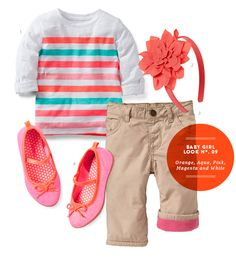 Baby Girl Style: Orange, Aqua, Pink, Magenta, and White