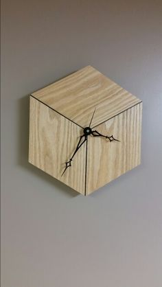 clock design ideas 616359898977651845 - Cube clock Source by Wooden Clock, Wooden Art, Diy Wood Projects, Wood Crafts, 3d Cnc, Cool Clocks, Wall Clock Design, Diy Clock, Old Wood