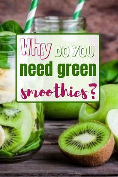 Green smoothies are a tasty way to get in some highly nutritious vegetables that we would otherwise not get in on a regular basis.Green smoothie for weight loss. Drink green smoothies to detox their bodies and lose weight. Smoothie Prep, Green Smoothie Recipes, Fruit Smoothies, Juice Recipes, Detox Smoothies, Smoothie King, Meat Recipes, Baking Recipes, Weight Loss Cleanse
