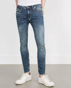 PANTALÓN DENIM SKINNY Super Skinny Jeans, Denim Jeans, Cool Outfits, Tights, Zara, Menswear, Mens Fashion, My Style, Stylish
