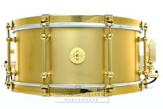 Dunnett Classic Tourbillon Snare Drum 14x6.5 Matte Gold w/ Cold Rolled Hoops