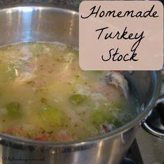 pot of turkey stock