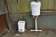 Diy chicken waterer and feeder from 5 gallon buckets what youll need. I usually switch to a typical metal waterer with warmer pan under it . Chicken Water Heater, Heated Chicken Waterer, Automatic Chicken Waterer, Pvc Chicken Feeder, Backyard Chicken Coops, Chicken Coop Plans, Diy Chicken Coop, Chickens Backyard, Galaxy Slime