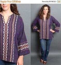 20% OFF SALE 90's Grunge Tribal Embroidered 1990's Purple Soft Linen Gauze Shirt Vintage Women's Men's Unisex Medium Large Blouse by HankAndGeorge on Etsy https://www.etsy.com/listing/240619608/20-off-sale-90s-grunge-tribal
