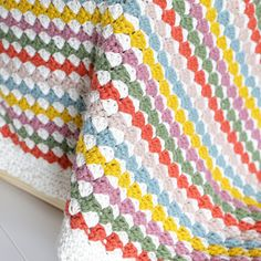 Ravelry: Maggie Blanket pattern by Little Doolally Easy Crochet Blanket, Crochet Blanket Patterns, Crochet Stitches, Crochet Blankets, Modern Blankets, Crochet Fall, Lap Blanket, Baby Afghans, Paintbox Yarn