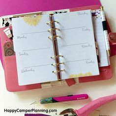 Free Printable - Sunflower Personal Planner Inserts - Happy Camper Planning