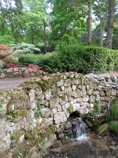 Ornamental Stone bridge, Exbury Gardens, New Forest, Hampshire, England
