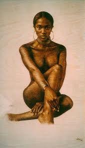 Paintings of black women nude