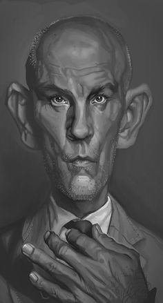 malkovich by andrei nicolaeSpectrum 2: The Best in Contemporary Fantastic Art. Celebrity caricatures
