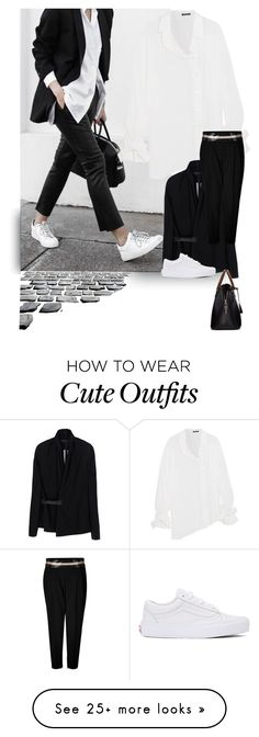 """Word on the Street"" by nino-d-f on Polyvore featuring Ann Demeulemeester, Rick Owens, Alexandre Vauthier, Maison Margiela and Vans"